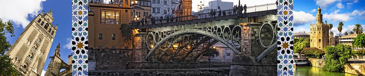 Mural con imágenes de Sevilla